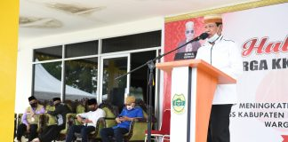 Plt Gubernur Kepulauan Riau Isdianto memberikan sambutan pada acara Halal Bihalal bersama Kerukunan Keluarga Sulawesi Selatan (KKSS) Kabupaten Lingga