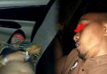 Pasangan mesum PNS/ASN yang ditemukan aparat kepolisian dalam keadaan pingsan di dalam mobil, di Kisaran, Asahan. (Istimewa