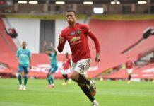 Penyerang MU Mason Greenwod merayakan gol ke gawang Bournemouth. (Foto: Premierliga.com)