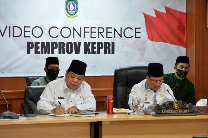 Sekdaprov Kepri Arif, Fadillah di Istana Kota Piring, Dompak, Tanjungpinang, Jumat (24/7) pagi.