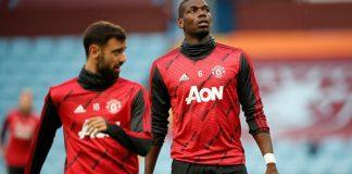 Duet Bruno Fernandes dan Paul Pogba membuat lini tengah Manchester United semakin kokoh dan berbahaya. Keduanya bahkan mencetak gol dalam kemenangan 3-0 atas Aston Villa. (Foto: Premierleague.com)