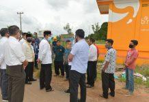 Plt Gubernur kepri Kunjungan Kerja ke Kecamatan Galang Kota Batam, di Kantor Camat Galang, Sabtu (11/07/2020)