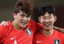 Kim Min-jae (kiri) dan Son Heung-min. (Foto: Twitter)