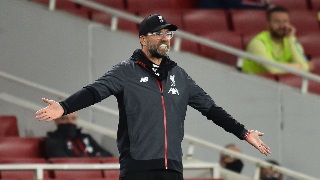 Reaksi manajer Liverpool Jurgen Klopp saat timnya bertanding melawan Arsenal di Emirates. (Foto: Premierleague.com)