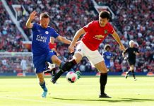 Harry Maguire, Kapten Manchester United yang baru dibeli dari Leicester City pada awal musim 2019/2020.