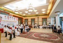 Gubernur Kepri, Isdianto membuka Rapat Kerja Pemerintahan Desa se-Kepri Tahun 2020 secara virtual