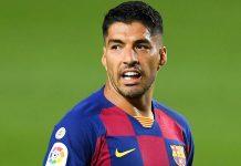 Striker Barcelona Luis Suarez. (Foto dari Livescore)