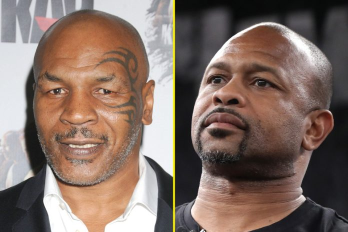 Mike Tyson (kiri) dan Roy Jones Jr. (Foto dari TALKSport)