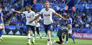 Harry Kane mencetak gol ke-14 dalam 13 pertandingan di semua kompetisi ketika melawan Leicester City di King Power Stadium pada 21 September 2019. Kedua tim akan kembali bentrok di Tottenham Hotspur Stadium, Minggu (19/7/2020). Foto: Premierleague.com)