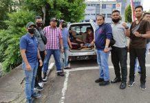 Tim Jaksa Kejari Bintan dan Satuan Reserse Narkoba Polres Bintan saat menjemput kedua terpidana narkotika yang akan dieksekusi ke Rutan Polres Bintan (Suryakepri.com/ist)