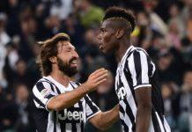 Andrea Pirlo dan Paul Pogba pernah bermain bersama selama tiga tahun di Juventus (Foto: Getty via Metro)