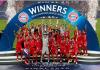 Para pemain bayern Munich mengangkat trofi Liga Champions usai mengalahkan PSG di Final, Minggu (23/8/2020) atau Senin dinihari waktu Indonesia. (Foto: Uefa.com)