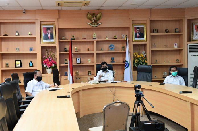 Arif Fadillah di Kantor Gubernur, Dompak, Rabu (05/08/2020).