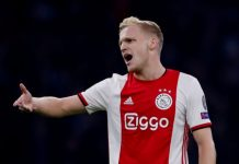 Gelandang Ajax Donny van de Beek jadi buruan Manchester United. Foto dari Sportsmole