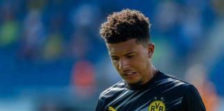 Jadon Sancho dalam pertandingan pramusim bersama Borussia Dortmund. (Foto: Getty via talkSPORT)