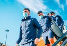Skuad Manchester City saat tiba di Lisbon, Portugal, untuk persiapan pertandingan perempat-final Liga Champions. City akan menghadapi Lyon pada Sabtu (15/8/2020) atau Minggu dinihari waktu Indonesia. (Foto: manCity.com)