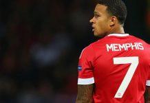 """Memphis Depay, eks pemain MU yang kini membela Lyon. Pemain Belanda ini akan dijadikan """"alat"""" oleh MU dalam negosiasi transfer Jadon Sancho dengan Borussia Dortmund."""