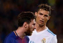 Lionel Messi dan Cristiano Ronaldo saat keduanya masih bersaing di LaLiga. (Foto dari talkSPORT)