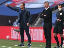 Manajer Manchester United Ole Gunnar Solskjaer (kanan) dan Manajer Chelsea Frank Lampard (Getty via MEN Sport)