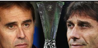 Pelatih Sevilla Julen Lopetegui dan pelatih Inter Milan Antonio Conte. Sevilla dan Inter Milan akan berhadapan di final Liga Eropa 2019/2020 di Cologne, Jerman, Jumat (21/8/2020) atau Sabtu dinihari pukul 02.00 WIB. (Foto: Uefa.com)