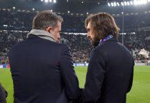Direktur Olahraga Juventus, Fabio Paratici (kiri) bersama Andrea Pilro. (Foto: Skysports Italia)