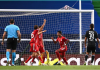 Serge Gnabry mencetak gol kedua Bayern Munich. 2-0.