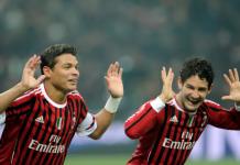 Thiago Silva bersama Pato saat masih berseragam AC Milan. (Foto: Chelseafc.com)