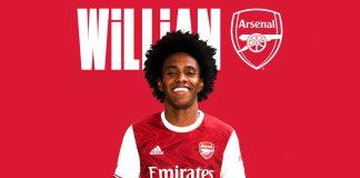 """Arsenal secara resmi memperkenalkan Willian Borges yang didapatkan secara gratis dari Chelsea. (Foto"""" Arsenal.com)"""