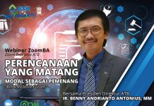 """Presiden Direktur ATB, Ir. Benny Andrianto Antonius, MM akan jadi pembicara dalam webinar ZoonmBA dengan tema """"Perencanaan Yang Matang Modal Sebagai Pemenang – Amat Victoria Curam""""."""