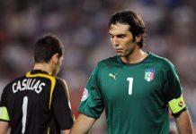 Gianluigi Buffon dan Iker Casillas. (Foto dari SkySports)