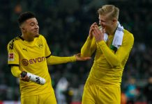 Jadon Sancho dan Erling Haaland saat latihan bersama di Borussia Dortmund. (Foto dari talkSPORT)