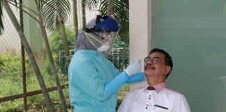 Calon Gubernur Kepri Soerya Respationo di RS BP, Batam, Rabu (2/09/2020).