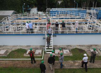 BP Batam bersama 4 perusahaan meninjau lokasi WTP Mukakuning sebagai salah satu bagian dari proses lelang Pemilihan Mitra Kerjasama Penyelenggaraan Operasi dan Pemeliharaan Selama Masa Transisi Sistem Pengelolaan Air Minum (SPAM) Batam, Jumat, 14 Agustus 2020.