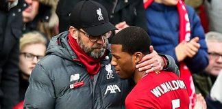 Georginio Wijnaldum dan Jurgen Klopp akan membahas masa depan gelandang Belanda di Liverpool. (Foto dari Sky Sports)