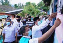 Peresmian ditandai dengan pemungsian perdana meteran listrik milik warga oleh Gubernur Kepri Isdianto, Rabu (2/09/2020) petang