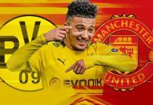 Jadon Sancho tetap menjadi target transfer No 1 Manchester United. (Grafis dari Skysports)
