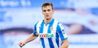 Diego Llorente dari Real Sociedad segera bergabung dengan Leeds United. (Foto dari Skysports)