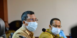 Sekretaris Daerah Provinsi Kepri Arif Fadillah memimpin rapat persiapan Musabaqah Tilawatil Quran (MTQ) Provinsi Kepulauan Riau ke VIII tahun 2020 di Ruang Rapat Utama lantai 4 Kantor Gubernur Dompak, Tanjungpinang, Selasa (1/09/2020).