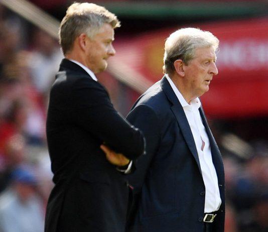 Ole Gunnar Solskjaer dan Roy Hodgson. (Foto: cpfc)