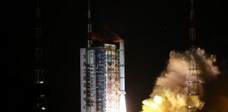 Roket Long March-2C, membawa satelit HY-1D, diluncurkan dari Pusat Peluncuran Satelit Taiyuan, Provinsi Shanxi, Tiongkok utara, 11 Juni 2020. (Foto oleh Zheng Taotao / Xinhua)