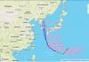 Pergerakan topan Haishen yang melanda Jepang dan Korea.(Grafis: wunderground.com)