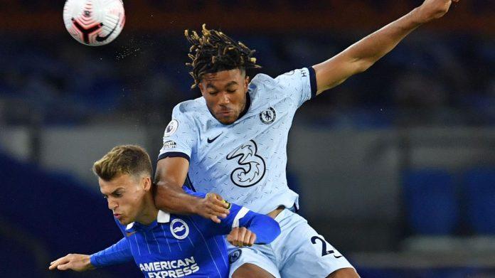Reece James (putih) mencetak satu gol dan satu assist untuk memberi kemenangan 3-1 atas tuan rumah Brighton, Selasa (15/9/2020). (Foto dari Premierleague.com)