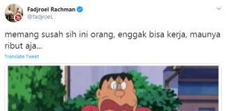 Screenshot tweets Jubir Presiden Fadjroel Rachman