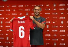 Thiago Alcantara mengenakan jersey No 6 di Liverpool. (Foto: Liverpoolfc.com)