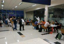 Kedatangan TKA China baru-baru ini di Bandara RHF Tanjungpinang (Suryakepri.com)