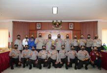 Divisi Hubungan Internasional Polri mengunjungi Polresta Barelang, Kamis (17/9/2020).