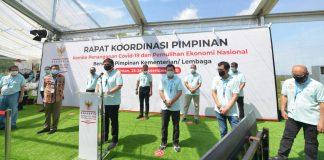 Rapat Komite Penanganan Covid-19 dan Pemulihan Ekonomi Nasional (PC-PEN) di Kawasan Wisata Lagoi, Bintan, Kepri (Suryakepri.com/ist)