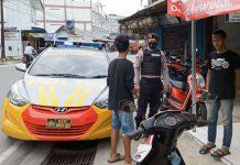 Satuan Sabhara Polres Bintan saat patroli dialogis dan berikan imbauan kepada masyarakat (Suryakepri.com)