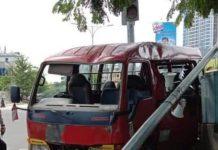Kecelakaan mobil Bimbar di Simpang Martabak HAR Nagoya Batam, Rabu (30/09/2020)