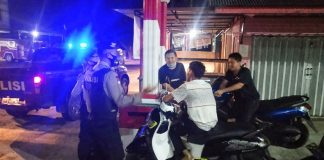 Satuan Sabhara Polres Bintan saat melaksanakan patroli di wilayah Kabupaten Bintan (Suryakepri.com)